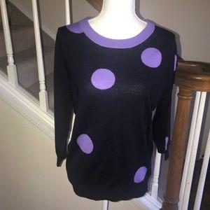 J. Crew Tippi sweater merino wool polka dot size L